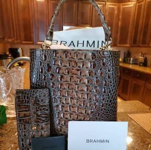Brahmin tote and wallet